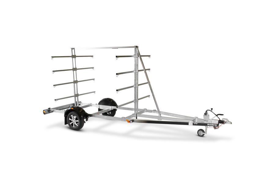 Kajaktrailer - X-Line kano/kajtrailer, til 16 kajakker eller 8 kanoer